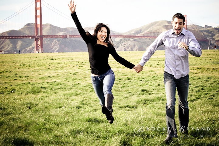Brooke Bryand Photography | San Francisco Engagement Photography | Marina Green | Golden Gate Bridge